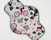 "10"" Pantyliner, Reusable Cloth Menstrual Pad Made w/ Paris Minky, Windpro Fleece, Cloth Pad, Everyday Liner by MotherMoonPads"