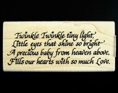 TWINKLE POEM Stampendous Wood Mount Rubber Stamp