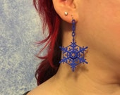 Frozen Snowflakes Lightweight Nylon earrings