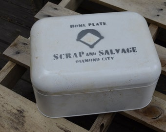 Fallout Inspired Scrap and Salvage Box - Weapon, Apparel, Junk, Ammo, Caps, and Skill Book