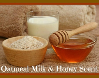 OATMEAL MiLK & HONEY Scented Soy Wax Melts - Food Scented Soy Tarts - Wickless Candle Melts - Highly Scented - Handmade Poured In USA