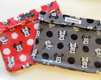 Disney Clear Pouch (1) 7x9 Organizer First Aid Medications Cosmetics Diaper Bag Mickey Minnie Mouse Ouch Pouch or Personalized Label