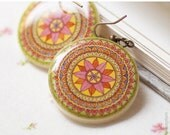 Mandala Ethnic earrings - Tribal jewelry - Tribal earrings (E030)