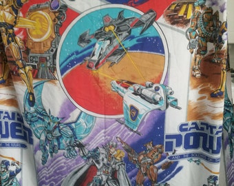 Captain Power VERY RARE Vintage Captain Power And The Soldiers Of The Future Fitted Bed Sheet