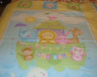 Baby Quilt~~ Noah's Arc~~ New Baby
