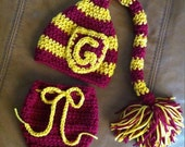 Crochet Harry Potter Gryffindor Hat Diaper Cover