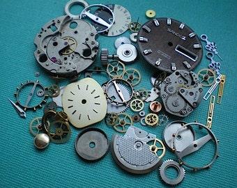 Vintage steampunk watch parts sampler, No. 4