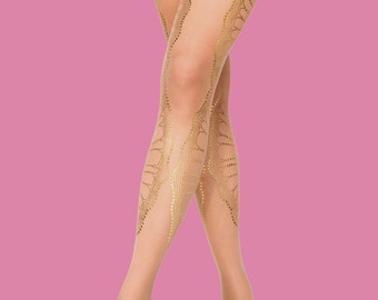 Sheer tights/nude color/ stockings/bridesmades/ bridal, La Boheme, S-M, L-XL