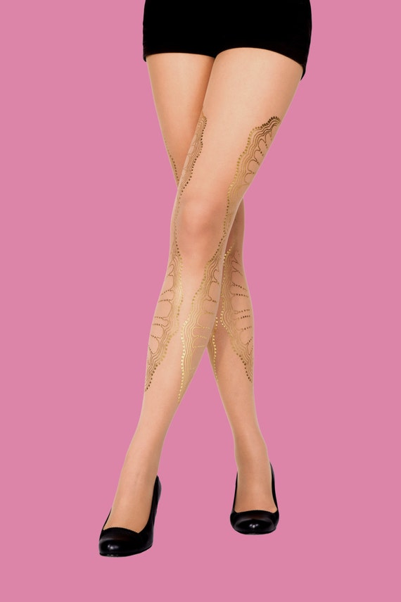 Valentine gifts for her, Sheer tights/nude color/ stockings/bridesmades/ bridal, La Boheme, S-M, L-XL