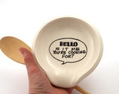 Hello spoonrest, spoon rest, hello is it me you're, Lennymud, funny gift for cook, kitchen, foodie