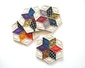 Fabric Coasters Quilted Coasters Housewarming Gift Hostess Gift Rustic Home Decor Drink Coaster Primitive Country Home Decor Farmhouse Decor