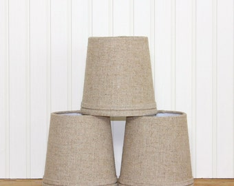 Linen Sconce Shade - Chandelier Shade - Lamp Shade - Drum Shade - Burlap Linen - Linen Lamp Shade - Rustic Lamp Shade - Chic Lamp Shade