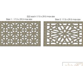 Unfinished Wood Lattice Work ,Grid, Panel 17.5 x 29.5 inch largest size