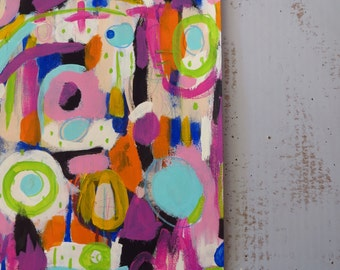 Abstract Modern Mixed Media Painting