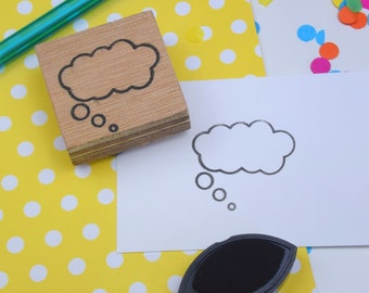 Handmade Thought Bubble Stamp
