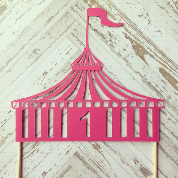 Like this item? & Circus Tent Cake Topper first birthday carnival circus