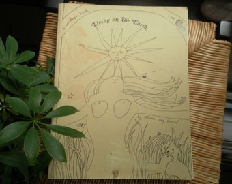 Living on the EARTH by Alicia Bay Laurel a vintage book first edition 1971