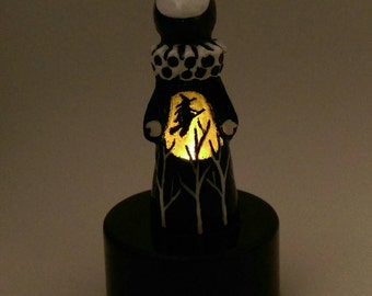 The Tiny Secret Witch - Limited Edition Lighted Poppet