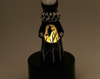 The Tiny Secret Witch - Limited Edition Lighted Poppet # 1/20