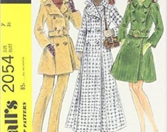 McCall's Vintage Sewing Pattern Notebook w/ 64 Blank, Lined pages- Adorable! Style 2054- Great Gift For Sewer!