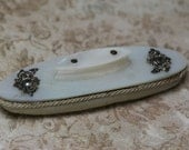 Vintage/Antique Mother of Pearl and Silver Nail Buffer
