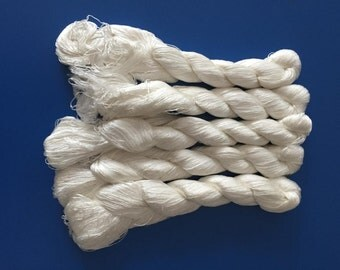 5pcs Chinese natural mulberry silk embroidery floss threads for hand embroidery UNDYED