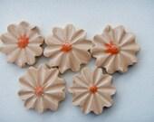 5 Mosaic Flower tiles-Mosaic flower Garden tiles Peach