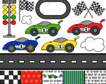 Race Car Clipart Etsy