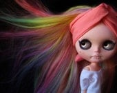 "VALENTINE'S WEEK REDUCED! Custom Blythe doll alpaca reroot ""Spectrum"" by Fausto & Gretchen. Layaway accepted. Shipping included."
