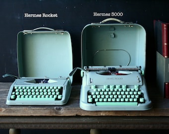 Hermes Rocket Manual Portable Typewriter Made in Switzerland Small Hermes Vintage From Nowvintage on Etsy