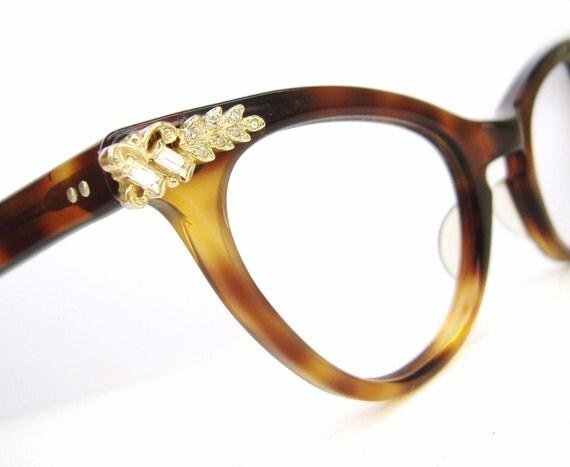Vintage 50s Cat Eye Glasses Eyeglasses or Sunglasses Frames