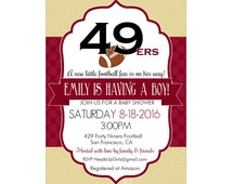 Unique 49ers Baby Shower Related Items Etsy