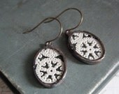 Vintage Paper Lace Repurposed Earrings