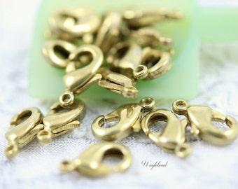 Gold Plated Small Lobster Clasps 10x5mm - 20