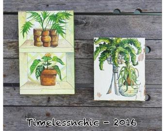 Plant Art - Wooden Plaques - Wood Plaques - Bohemian Decor - Jungalow Decor - Horticulturalist - Plant Lover - Chic