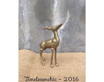 Deer - Brass Deer - Rustic Decor - Woodland Decor - Buck - Stag - Wildlife - Brass Figurine - Farmhouse CHIC