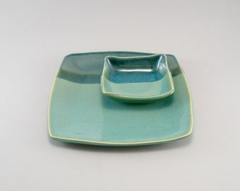 Ceramic Plate, Appetizer Set, Tapas Plate, Plate Set, Celadon Plate, Dessert Plate