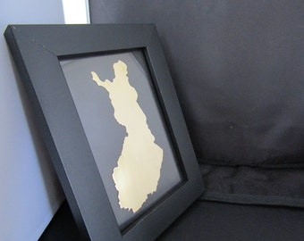 FINLAND Framed Art, Metal Art - Framed Countries - All Available