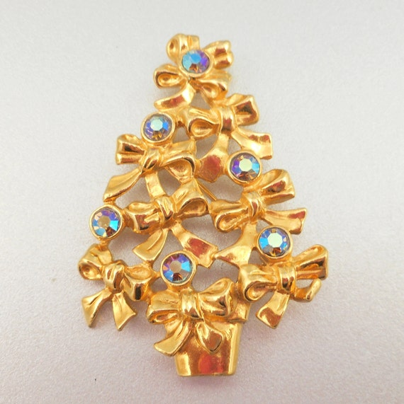 Avon christmas tree pin by antiqueali on etsy