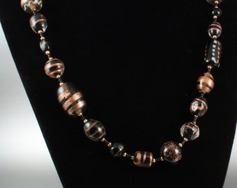 Mayan Midnight beaded necklace