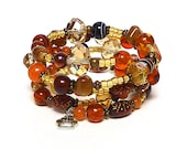 AMBER LIGHT coil Beaded Bracelet by Beading Divas Fundraiser