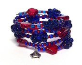 SCHOOL SPIRIT coil Beaded Bracelet by Beading Divas Fundraiser
