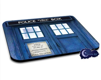 Blue Police Call Box Mousepad