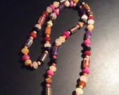 Bright Colorful, All Natural Stone, Long Necklace