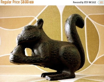 SALE Hand Painted Lovely Iron Squirrel