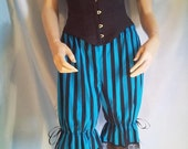 size uk 14 blue and black stripe bloomers