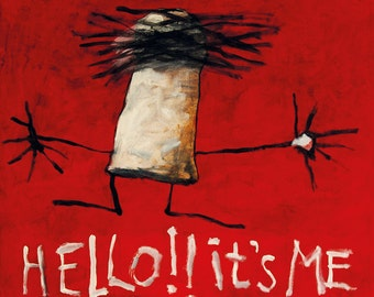 041 Hello it's Me - folded art card 15x15cm/6x6inch with envelope