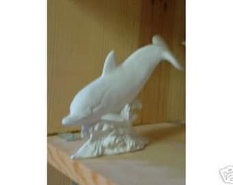 Dolphin Ready to Paint Ceramic Bisque Made in USA