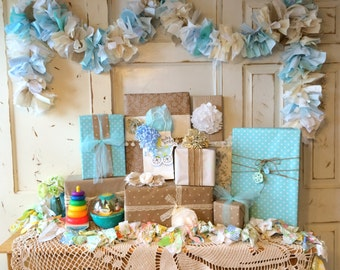 Burlap Its A Boy Baby Shower Party Banner 6 10 Foot Fabric Garland