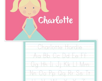 Personalized Placemat - 'Mini Me'-Girls' Placemat-Girls Placemat-Personalized Placemat-Custom Placemat